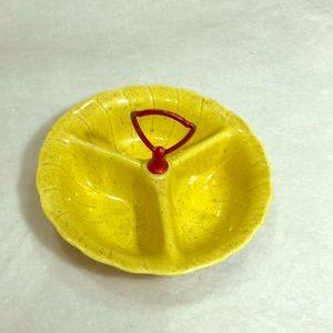 Vintage MCM Yellow Lane & Co Ceramic Candy Dish